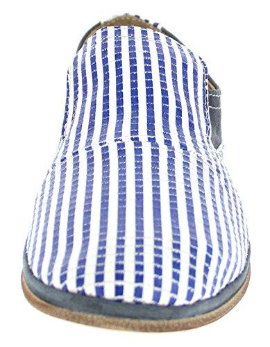 Charme 2861E172 Damen Slipper, Leder, Blau