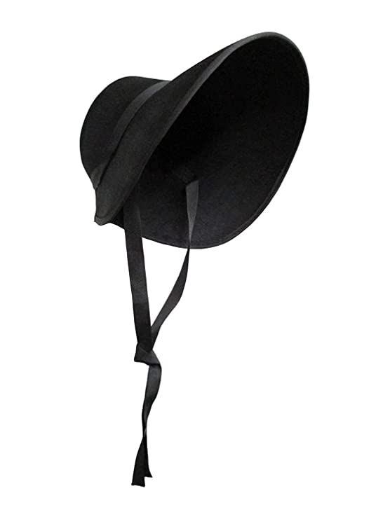 Steampunk Hats | Top Hats | Bowler Nicky Bigs Novelties Victorian Handmaids Felt Bonnet $12.95 AT vintagedancer.com