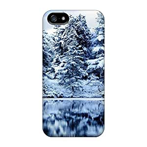Case Cover Protector For Iphone 5/5s Snow Lake Case by mcsharks
