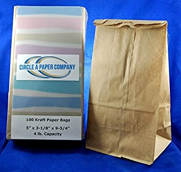 aac195879803 Amazon.com : Paper Lunch Bags, 100 Count, Brown 30 Pound Kraft Paper ...