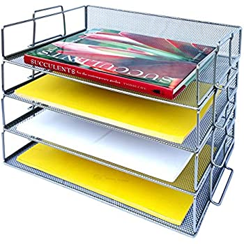 """Amazon.com: 12""""x12"""" Stacking Paper Trays (10): Home & Kitchen"""