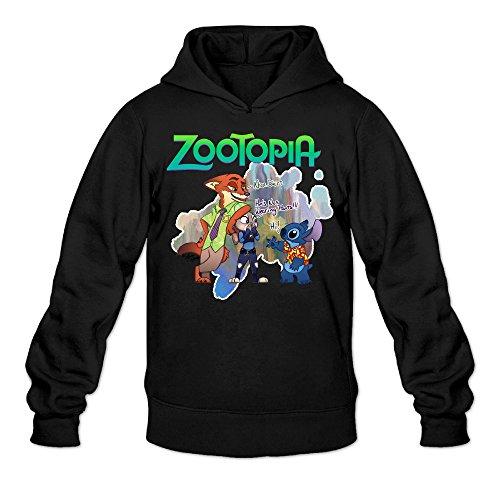 (Chris-T Zootopia Men's Long Sleeve Hoodie Black US Size)