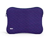BUILT Neoprene Sleeve for 15-inch Macbook and MacBook Pro, Mini Dot Navy