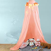 Princess Castle Curtain Dome Bed Canopy Cotton Cloth TentsPest Control Play House for Baby Kids Reading Play Tents (Pink)