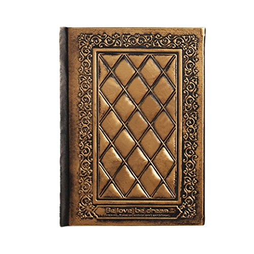 Vintage Embossed PU Leather Journal Notebook Hardcover Travel Diary Sketch Book Daily Planner Blank Pages A5 Hardbound