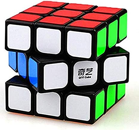 Etailor 3x3x3 QIYI Black Background Rubiks Magic Ultra Smooth High Stability Speed Cube 3D-Puzzle Cube Recommended for 3-99 yrs (Multicolor)