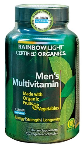 Rainbow Light Men's Organic Multivitamin, 120 Vegetarian Capsules