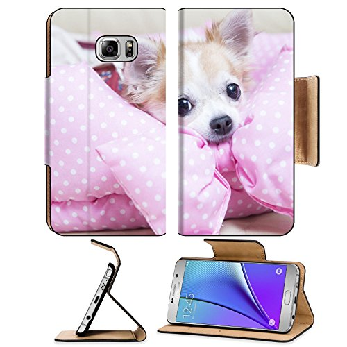 [Luxlady Premium Samsung Galaxy Note 5 Flip Pu Leather Wallet Case Note5 IMAGE ID: 34645968 cute] (Dog Costume Carrying Gift Video)
