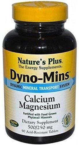 Dyno-Mins Calcio Magnesio 90 comprimidos de 250 mg y 125 mg de Natures Plus