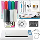 Silhouette Cameo + Vinyl, Tool Kit, Pix Scan Mat, 12 Exclusive Vinyl Designs and 4 Sketch Pens