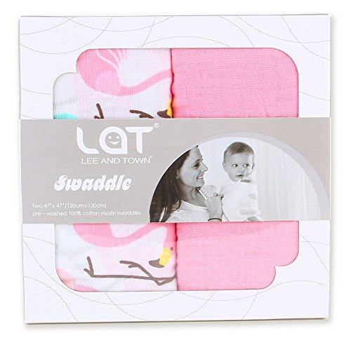Swaddle Blankets Receiving Organic Flamingo product image