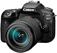 Canon DSLR Camera [EOS 90D] with 18-135 is USM Lens | Built-in Wi-Fi, Bluetooth, DIGIC 8 Image Processor, 4K V