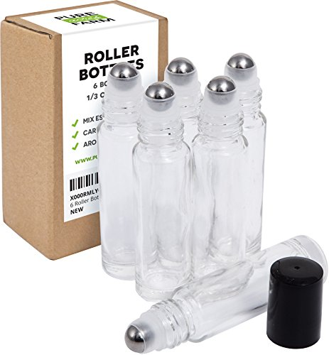 Clear Essential Oils Roller Bottles product image