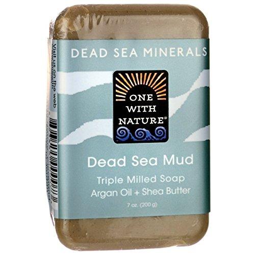 Spa Sea Mud (One With Nature Dead Sea Mud Dead Sea Minerals Soap, 7 Ounce Bar)