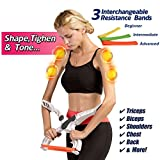 Qingre Arm Workout Machine,Arm Upper Exerciser Force Fitness Equipment with System 3 Resistance Training Bands for Women
