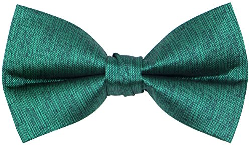 Mens Classic Pre-Tied Bow Ties Formal Adjustable Tuxedo Bowtie For Wedding & Party Emerald Green -