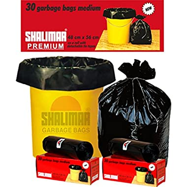 Shalimar Premium OXO - Biodegradable Garbage Bags (Medium) Size 48 cm x 56 cm 6 Rolls (180 Bags) (Black Colour) 5