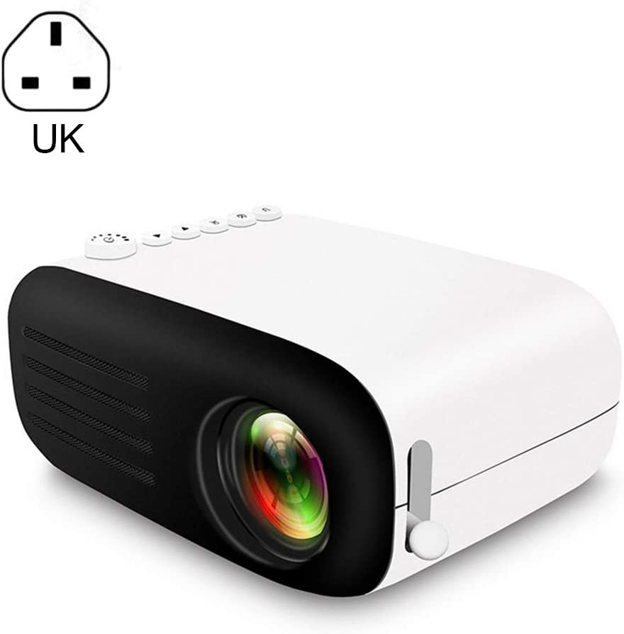 Mini Multimedia Projector Full HD 1080P Pocket Video Projector 7000 Lumens Home Portable Mini Handheld LED Projector Support HDMI USB AV Ports and TF Card for PC Smartphone or Tablet