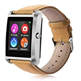Mens Smart Watch Fitness Tracker, Nextrend Bluetooth Women Kids Sport Watches Touch Screen Pedometer with Sleep Monitor Call/Message Reminder Music Player Anti-Lost for Android and iOS iPhone-Leather Review