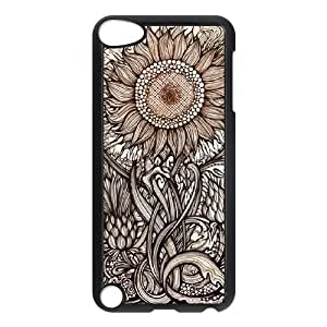 DDOUGS Sunflower Customized Cell Phone Case for Ipod Touch 5, Personalised Sunflower Case