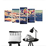 Best Spider-Man Man Decals - 5 Pieces Triptych Painting Living Room Decoration Frameless Review