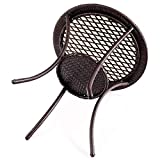 "Tangkula 25"" Patio Wicker Coffee Table Outdoor"