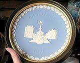 Wedgwood Jasper Christmas Plate 1971 FRAMED
