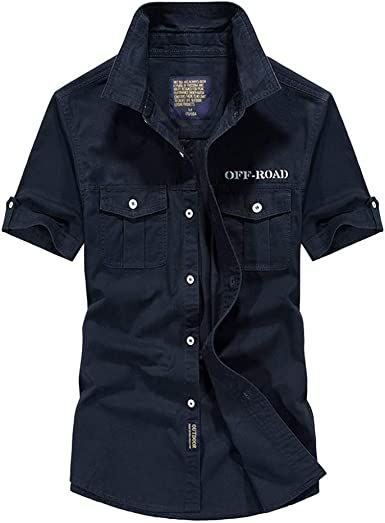 Camisa para Hombre Moda Hermosa Camisa Militar de Manga Corta para Hombre Camisas Casual para Hombre Chaquetas para Hombre Chaquetas de Traje para Hombre Camisa Manga Corta Hombre: Amazon.es: Ropa y accesorios