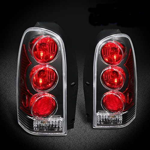1997-2005 Chevy Venture/Pontiac Montana Transport Van Black Rear Tail Lights Set