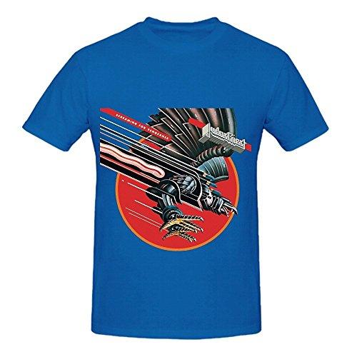 screaming-for-vengeance-judas-priest-funk-men-crew-neck-cotton-t-shirts-blue