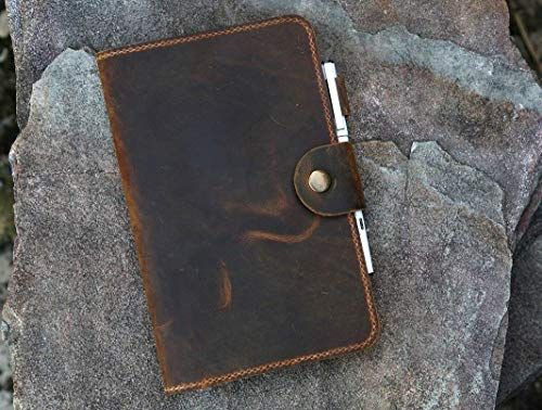Personalized 5 x 8 inch distressed leather travel journal notebook/refillable real leather journal diary handmade saddle stitching LC5805S