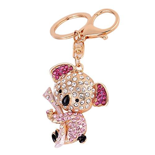 - Cute Koala Bear Rhinestone Keychain Bling Keyring Handbag Purse Charm Pendant Gift