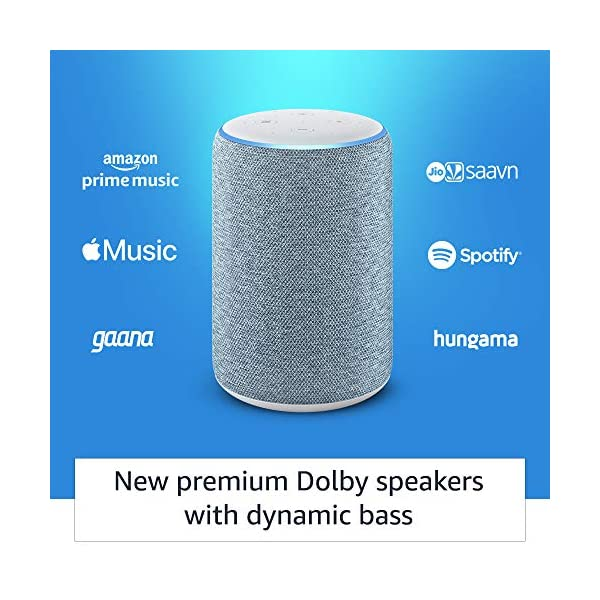 51M8IVFgBCL Amazon Echo (3rd Gen) – Improved sound, powered by Dolby (Blue)