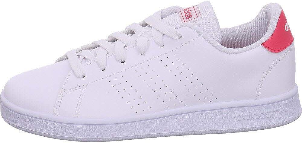 adidas Advantage K, Chaussures de Tennis Mixte Enfant Blanc - rose