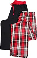 Hanes - Mens 2 Pack Woven and Knit Lounge Pants