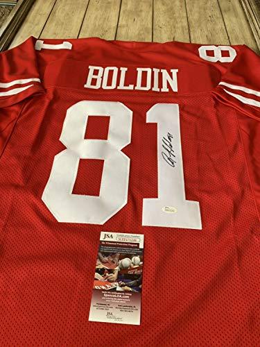 Anquan Boldin Autographed Signed/signed Jersey JSA COA San Francisco 49ers