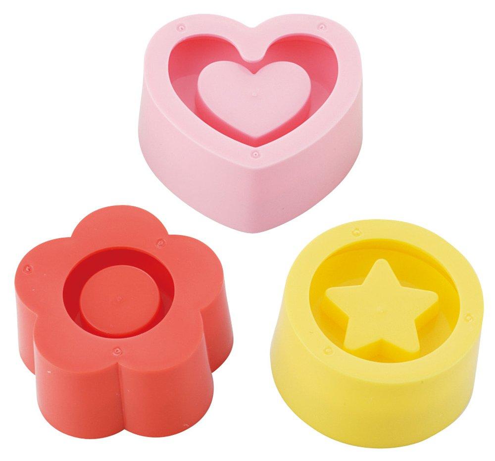 Torune Kai Chuboos Sushi Rice Press Mold with Hollow 3pcs (Flower, Heart, Star) FG-5063