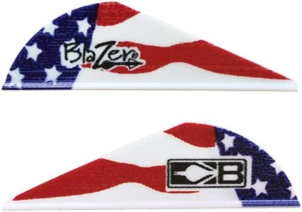 "Bohning True Color 2"" Blazer Vanes American Flag Blazer Vane, 100pk"