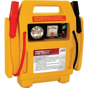 Car Jump Pack >> 12v Portable Car Jump Starter Air Compressor Battery Start Booster Charger Leads