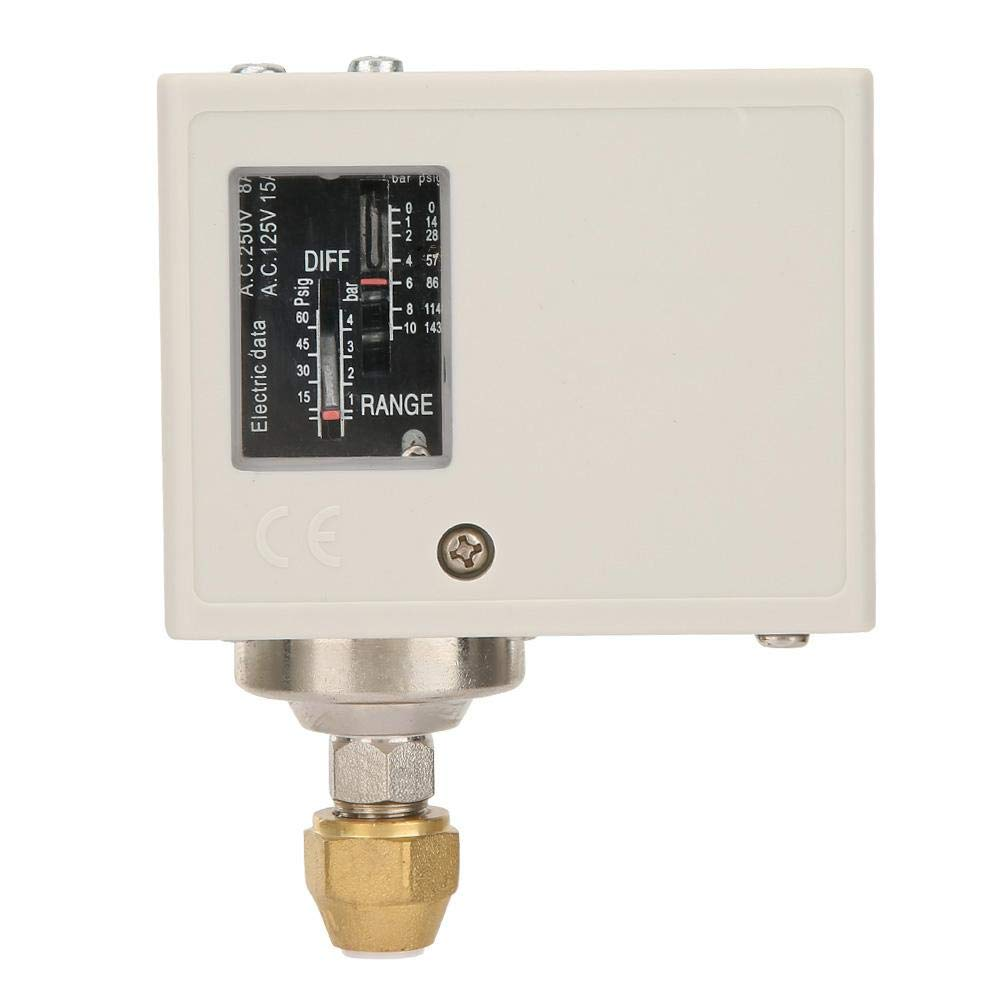Bouton de Commande Commutateur de Pression 24V-380V Contrôleur de Pression Compresseur d'Air Electronique Pompe à Eau/Air
