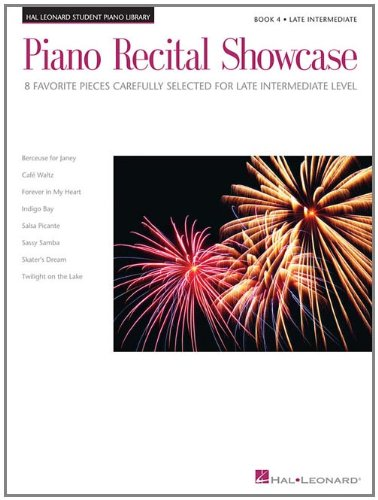 Piano Recital Showcase - Book 4: 8 Favorite Pieces Carefully Selected for Late-Intermediate Level PDF