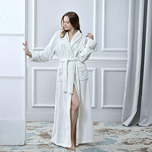 Unisex Bathrobes Luxury Ladies Dressing Gowns Wrap Around Housecoat  Nightwear Lounge Wears with Pockets and Belt 260e17917