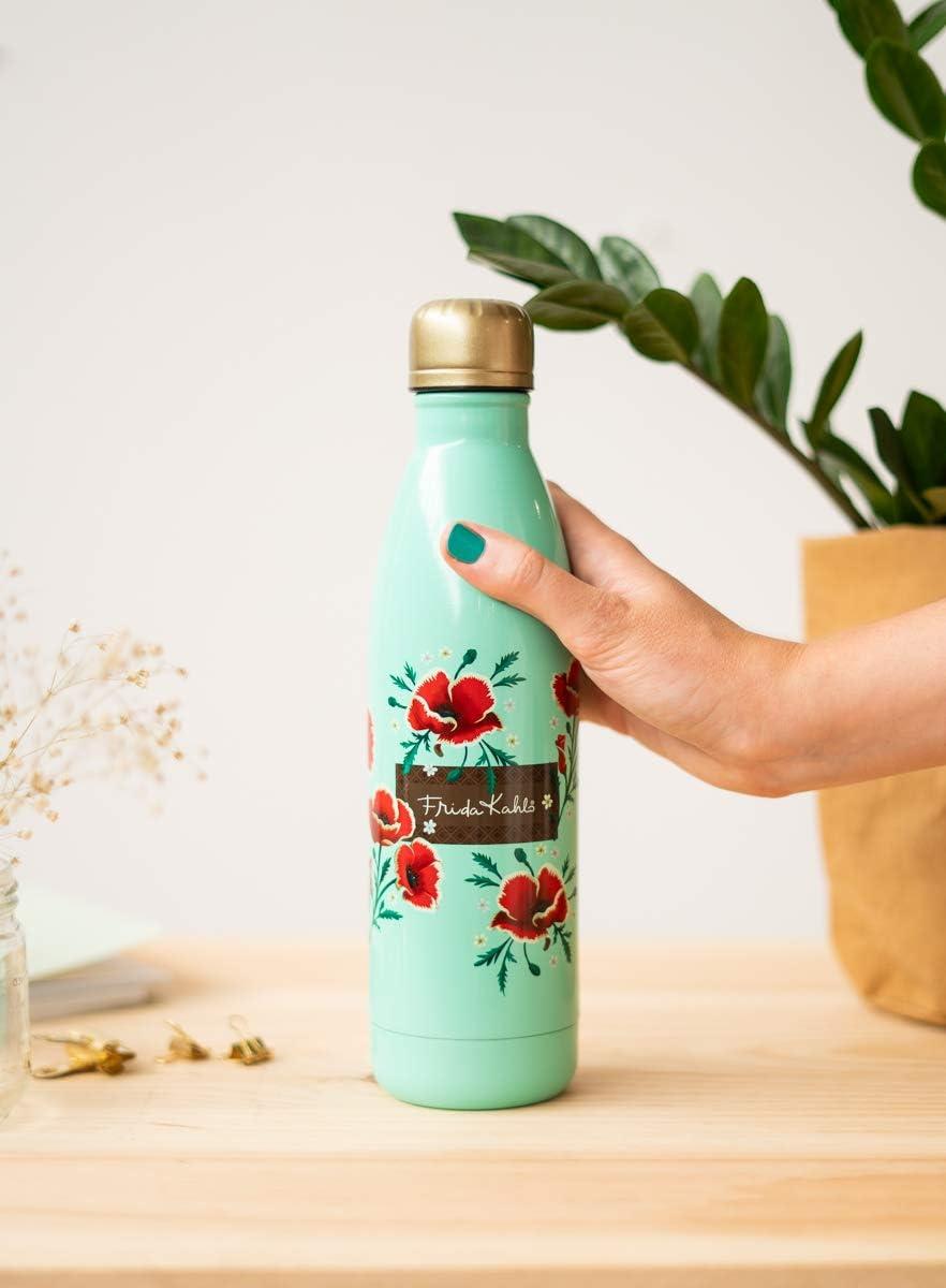 Grupo Erik - Botella de agua metálica Frida Kahlo, 500 ml: Amazon.es: Hogar