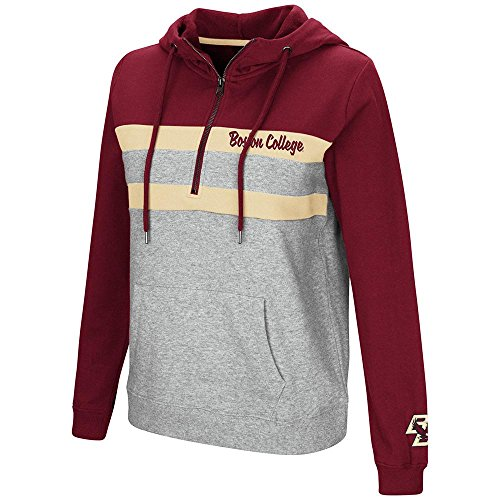 (Womens Boston College Eagles Quarter Zip Pull-over Hoodie - M)