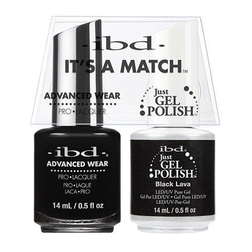 ibd Advanced Wear Color Duo Black Lava #569 UV Gel Color by
