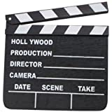 "NEW HOLLYWOOD CLAPBOARD CLAPPER CLAP BOARD MOVIE SIGN DIRECTOR'S PROP CHALKBOARD 7"" X 8"""