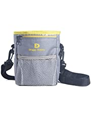 Upgraded Dog Treat Training Pouch, verstelbare en verwijderbare extra lange tailleband, schouderriem, Improved Poop Bag Dispenser, Easy Carries Treats, Toys, iPhone 6 Plus, enz. Grey