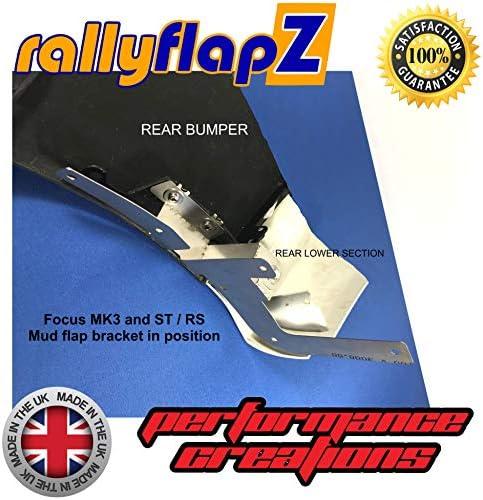 RFFRSMK3-BLK-PVC-L-NB Noir 4 mm Logo PVC souple Bleu Nitrous RallyflapZ//Lot de 4 bavettes garde-boue fabriqu/ées sur mesure avec mat/ériel de fixation et instructions fran/çais non garanti