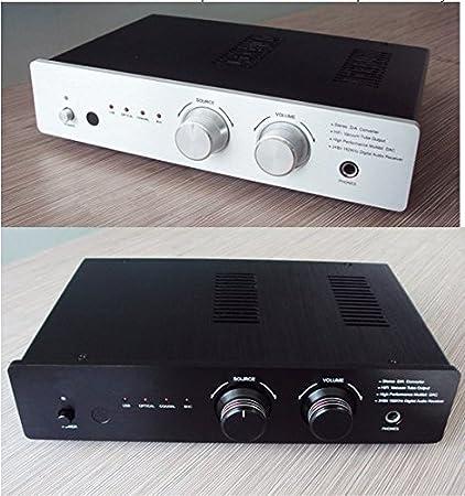 GOWE USB XMOS coaxial óptico DAC/auriculares Digital Convertidor 03 A Tubo GE5670 salida color