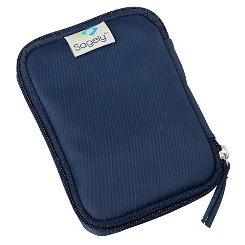 (Sagely Weekend Travel Pouch for 3 Sagely Smart Weekly Pill Organizer (Navy))